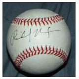 Richard Nixon Baseball Signed.