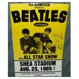 Beatles Poster Signed by Sid Bernstein.