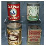 Coffee Tin Lot.