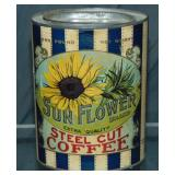 Sunflower Brand Coffee Tin.