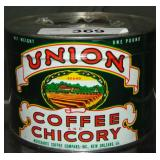 Scarce Union Coffee and Chicory Tin.