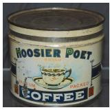 Hoosier Poet One Pound Coffee Tin.