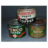 Penco Coffee Lot of Three.