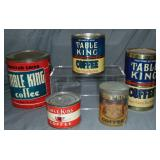 Table King Coffee. Collection of Tins.