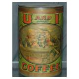 U and I Coffee Tin