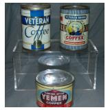 Lot of Three Coffee Tins.