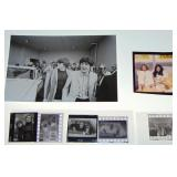 (4) John Lennon/Ono Negatives w/Contacts & Photo.