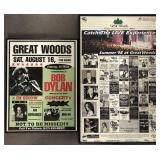 (2) Great Woods Concert Posters, Dylan, 1998