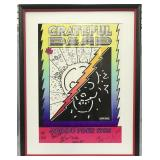 Grateful Dead Signed Spring Tour 1988 Poster