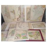 Late 19th to Mid 20th Century Assorted Map Lot