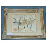 "Gerard Hordyk, Watercolor ""Ballet Dancers"""