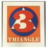 "Robert Indiana, ""Polygon #3 Triangle"", Silkscreen"