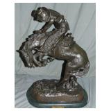 "Frederic Remington ""Rattlesnake"" Bronze"
