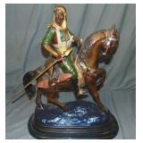 Arab on Horseback Bronze Sculpture