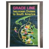 1964 Grace Line Cruises to South America Poster