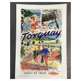 1956 Torquay British Railways Travel Poster