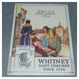 1928 Whitney Baby Coaches Advertisement Poster