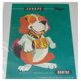 "1958 Qantas Airline Travel Poster, ""Europe"""