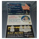 (3) World War I Food Administration Posters