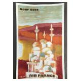 1967 Air France Near East Travel Poster
