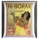 C.1898 Bi-Borax French Advertising Poster