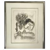 Marc Chagall. Lithograph Signed.