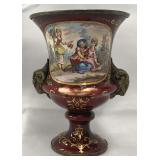 19th Century French Silver Enameled Urn.