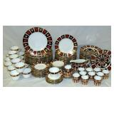 112 pc Royal Crown Derby Old Imari China Set