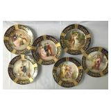 Lot of Six Hand Painted Austrian Plates.