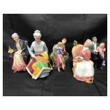 Royal Doulton Porcelain Figurines. Lot of  5