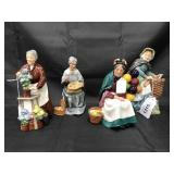 Royal Doulton Porcelain Figurines. Lot of  4
