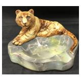 Scarce Nippon Ashtray with Full Figure Tiger.