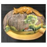 Nippon Ashtray with Fox On Top.
