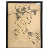 Al Capp  (1909 - 1979) Original Drawing.