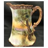 Nippon Hand Painted Pitcher.