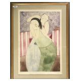 "Eng Tay Lithograph titled ""Make-Up"""