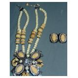 Lawrence Vrba Necklace/Brooch and Earrings