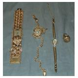 14Kt Gold Jewelry Lot. Watches.