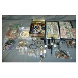 Estate Jewelry, Currency etc.