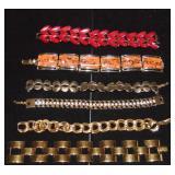 (6) Vintage Costume Bracelets. Napier, Monet .....