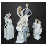 Lladro. Porcelain Figurines. Lot of 4