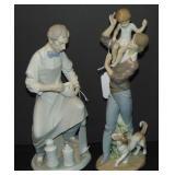 Lladro. Porcelain Figurines. Lot of 2.