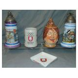 Beer Steins, Spaten Jug and Ashtray