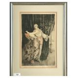 """Louis Icart, """"Dancers"""" Signed Etching 1928"""