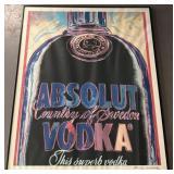 "Andy Warhol Signed ""Absolut Vodka"" Offset Litho"