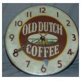 Old Dutch Coffee Advertising Clock