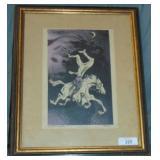 William Gropper Signed Litho, Headless Horseman