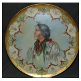 Limoge Hand Painted American Indian Charger