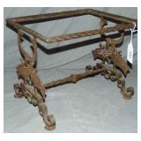 Art Deco Iron Table, Style of Brandt