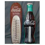 (2) Coca Cola Advertising Thermometers